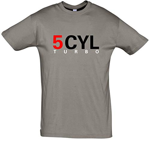 BDS de Pantalla técnica 5Cilindro Turbo Camiseta––Camiseta para Hombre 5zyl Turbo