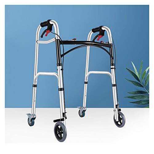 Falten Rollator Gehgestell Mit 4 Räder for Senioren, Mobilitätshilfe for Handicap, Leicht Erwachsene Rollen Rehabilitationstrainer ALGFree (Size : A)
