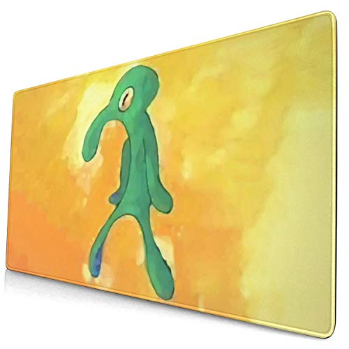 Bold and Brash Large Gaming Mouse Pad, Squidward Mouse Mat, Keyboard Pad, Office Desk Mat, Anti-Slip Rubber with Durable Stitched Edge for Office Laptop Computer PC Men Women Kids 15.7 X 30 Inch