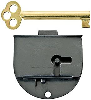 Rounded Half Mortise Lock w/Skeleton Key for Left Hand Cabinet Doors | L-20L