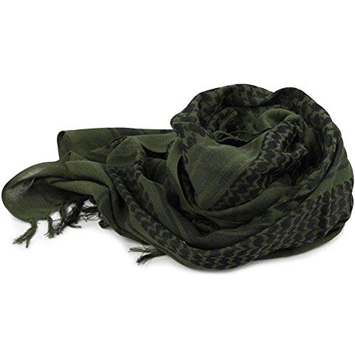 Rosepoem 1 PC Bufanda táctica del Desierto Abrigo árabe en la Cabeza Pañuelo en la Cabeza de la Borla de múltiples Funciones a Prueba de Viento del algodón de la Bufanda de la Cabeza Militar