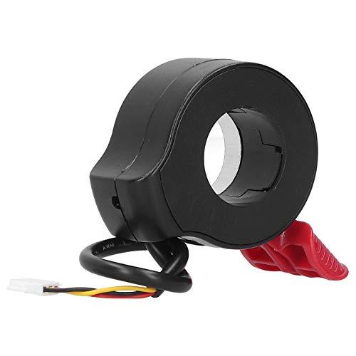 CHICIRIS Acelerador de Scooter eléctrico, Acelerador de Dedo, Sensor de Pasillo, Acelerador de Scooter eléctrico, Agarre, Accesorios de Bicicleta(Rojo)