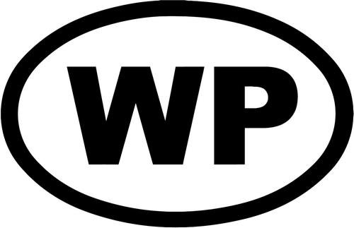 WP Widespread Panic Vinyl Decal Sticker Bumper Car Truck Window- 15' Wide Gloss Silver Color