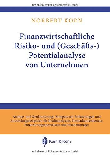 Finanzwirtschaftliche Risiko- und (Geschäfts-) Potentialanalyse von Unternehmen: Analyse- und Strukturierungs-Kompass mit Erläuterungen und ... Finanzierungsspezialisten und Finanzmanager