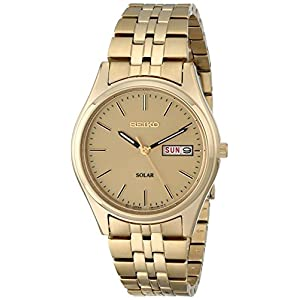 Fashion Shopping Seiko Men's SNE036 Stainless Steel Solar Watch