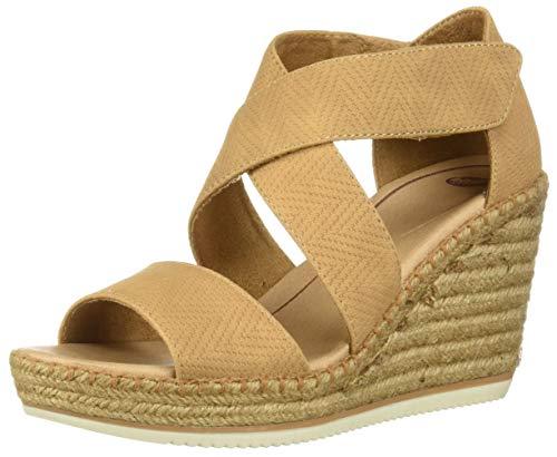 Dr. Scholl's Shoes Women's Vacay Espadrille Wedge Sandal, Nude Altitude Print, 7 M US