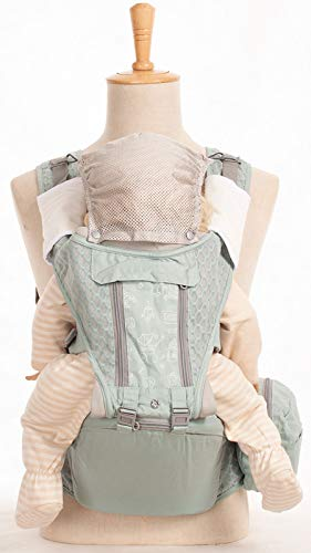 Envoltura De Portador De Bebé para Bebé - Transportista Transpirable para Bebés con 6 En 1 Formas De Transporte, Soporte Ergonómico De La Parte Trasera del Bebé del Asiento De Cadera (3.5 Kg A 20 Kg)