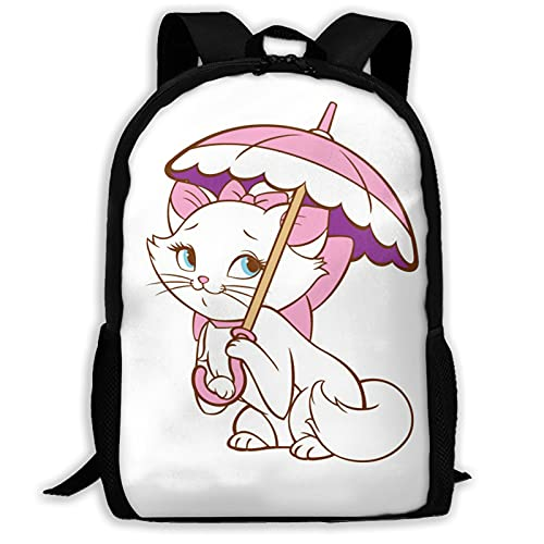 Marie Cat Mochila unisex de poliéster casual mochilas de viaje escuela juego bolsa