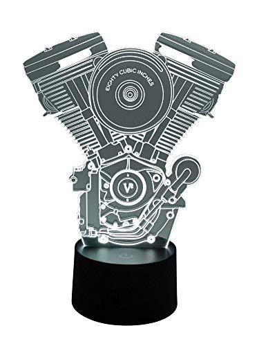 originelle 3d lámpara LED Harley Davison Motor para el Bike Treff y Bike Escena