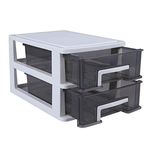 VOSAREA Schubladenschrank Schubladenbox Werkzeugschrank Kunststoff Transparent Schubladen mit 2...