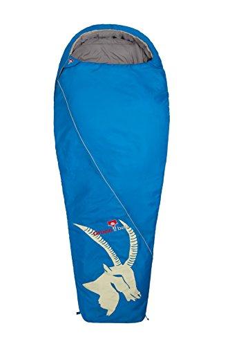 Grüezi+Bag Erwachsene Mumienschlafsack Cloud Mumie Steinbock RV Links, Blau, 35 x 20 x 20 cm