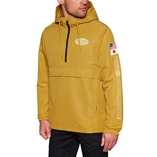 HUF World Tour Anorak Windproof Jacket Large Sauterne