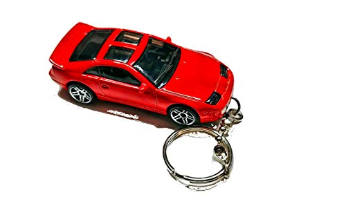Diecast Nissan Car Keychain FOB (Nissan 300ZX Red Twin Turbo Keychain)