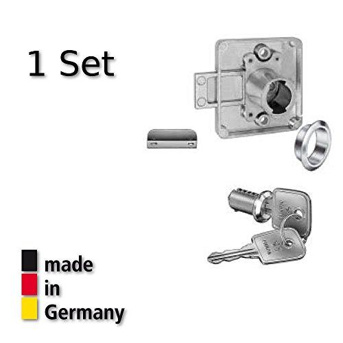 Hekna Aufschraubschloß Hinterlegschloß Möbelschloß Set Dorn 20 mm Typ 1275 links