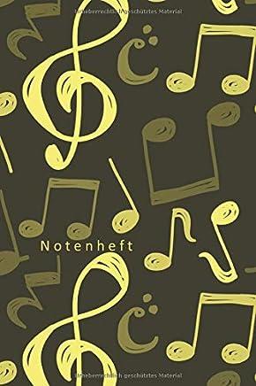 Notenheft: Notenheft zum Selberschreiben/9 Systeme pro Seite/ Notizbuch für Lehrer Musiker und Komponisten/ 80 Seiten /Blanko Notenpapier Manuskript ... Violine/ Keyboard / DIN A5/Soft Cover