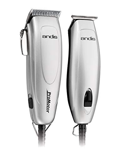 Andis 24565 Promotor+ Combo 27-Piece Clipper/Trimmer Haircutting Kit, Silver