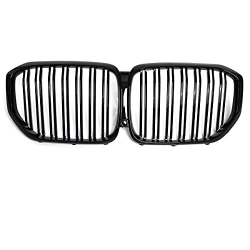 YKPDM Parrillas de Carreras, para BMW X Series G05 X5 2019 x5 30D 1 Par de Negro Brillante Radiador Grúa Estilo de Coche Refit Llantas de Parachoques Doble Línea