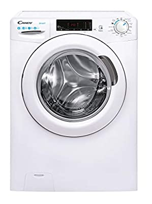 Candy Smart Pro CS148TE Free Standing Washing Machine, 8 kg Load, 1400 rpm, White