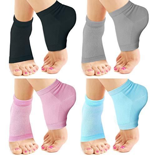 Nado Care 4 Pairs Heels Moisturizing Socks for Dry Cracked Heels Repair Treatment- Moisturizing Gel...