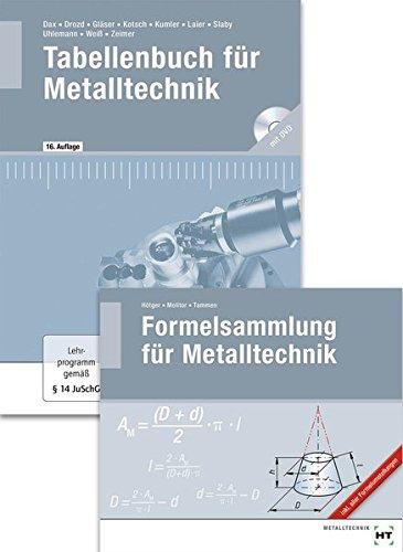 Paketangebot Tabellenbuch für Metalltechnik und Formelsammlung für Metalltechnik
