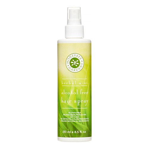 Honeybee Gardens Hair Spray Alcohol Free, Herbal Mint, 8.5 Fluid Ounce