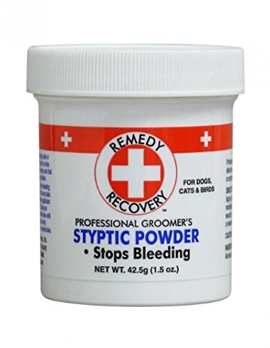 + REMEDY + RECOVERY + Quick Stop Styptic Powder for Pets Dog Cat Bird Nail Bleeding Cuts Scrapes 1.5 oz jar