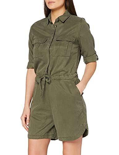 OPUS Damen Merlin Color Jumpsuit, Grün (Oliv Green 3033), (Herstellergröße: 40)
