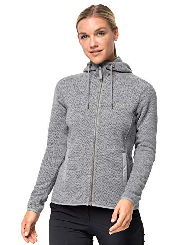 Jack Wolfskin Damen PATAN Hooded Jacket W Fleecejacke, Grey Haze, XXL