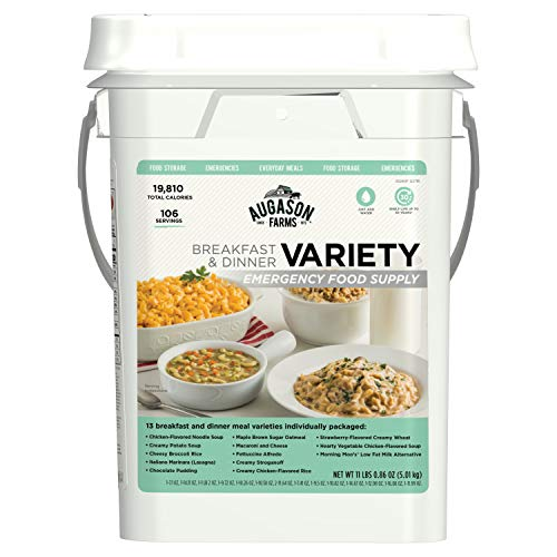 Augason Farms Breakfast and Dinner Variety Pail Emergency Food Supply Everyday Meals 4 Gallon Pail