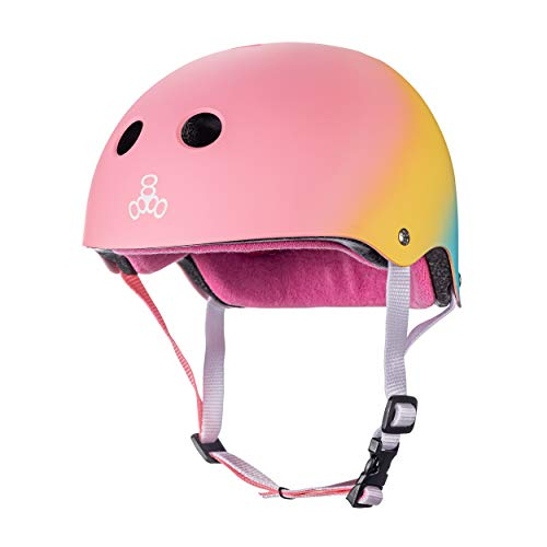 Triple Eight The Certified Sweatsaver Helmet for Skateboarding, BMX, and Roller Skating, Shaved Ice, Small/Medium