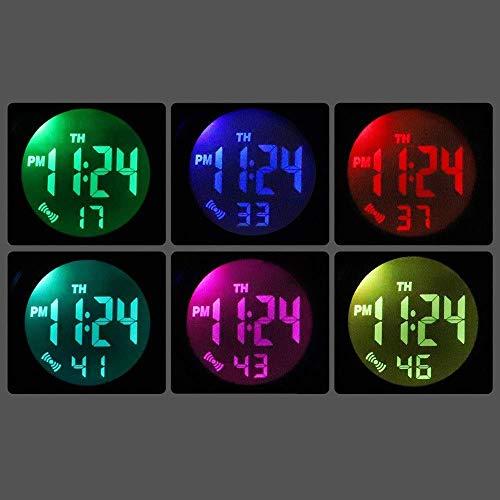 Ultrafinas coloridas luces muchachos de los hombres relojes de los estudiantes ectronic Casual deportes al aire libre impermeable del cronógrafo luminoso del despertador del calendario de la caja de r