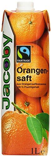 Jacoby Orangensaft aus Orangensaftkonzentrat Fairtrade, 6er Pack (6 x 1 l)