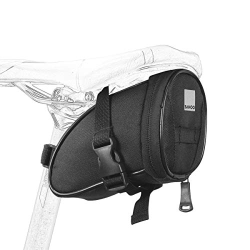 Roswheel 13656 Bike Saddle Bag Bicycle Under Seat Pack Cycling Accessories Pouch, Black
