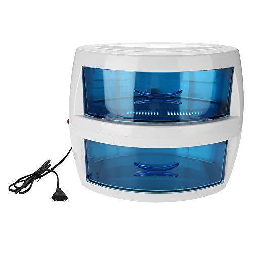 UV-Desinfektionsschrank,2in1 Professional Zweischichtige ABS-Scheren-Handtuchnagelwerkzeuge UV-Sterilisatorausrüstung, Für Barber Shop,SPA, Nägel,Schönheitssalon,Friseursalon gründlich sterilisieren