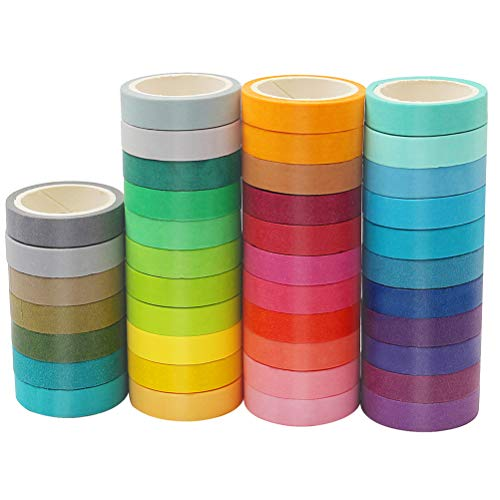 Diy Colored Masking Tape 10 Rolls Rainbow Color Painters Tape For Craft Color Coded Party Supplies 7.5 mm Wide