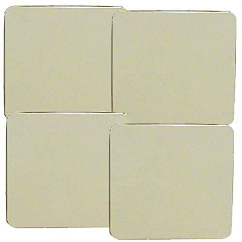 Reston Lloyd Square Gas Stove Burner Covers, Set of 4, Almond