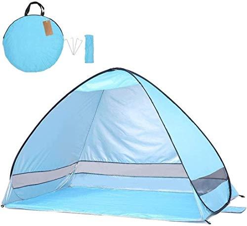 Pop Up Camping Beach Tienda de playa Tienda Pop Pop Up Sun Shelter Automático Tabla Sombra Portátil Portátil Protección UV con bolsa de transporte for al aire libre for jardín familiar / de camping /