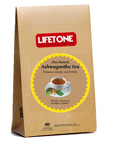 Ashwagandha Root Tea | The Herbal Mood Booster | Sleep Easy Tea (20 Teabsgs)