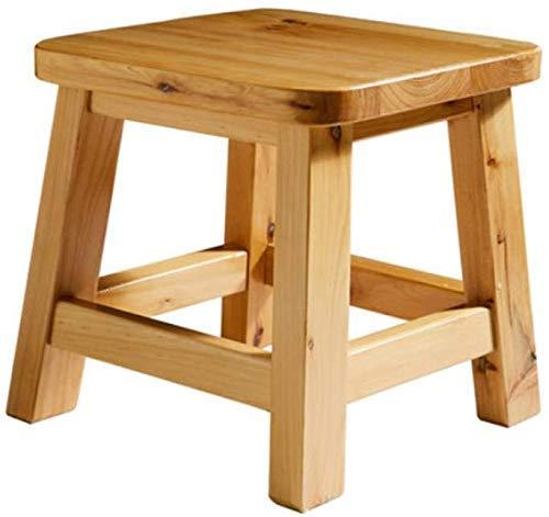 Taburete pequeño, taburete cuadrado maciza para niños banco de madera cambio de zapatos taburete de jardín taburete bajo de viento sentado en la taburete de baño banco de madera largo color 25x25x25cm