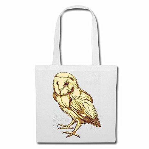 sac à bandoulière OWL UHU LIFESTYLE FASHION STREETWEAR HIPHOP SALSA LEGENDARY Sac Turnbeutel scolaire en blanc