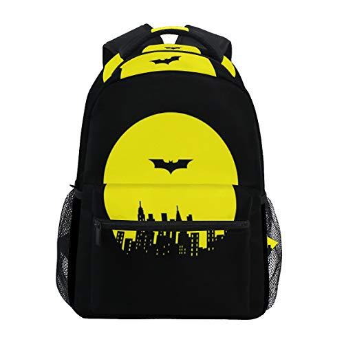 Fashion Water Resistant Laptop Backpack,Black Batman Shoulder Schoolbag Computer Bag Bookbagsfor High School/College Student,Travel Bag,14 Inch Laptop Sleeve,Age 6-12