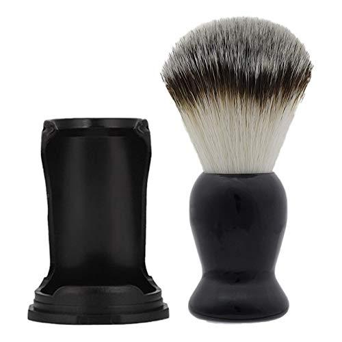 SNOWINSPRING 2 PièCes SéRies pour Barbe Propre Rasage Brosse Hommes Rasage Porte-Outil Compact Rasage Brosse Manuel Rasoir Stand Supports