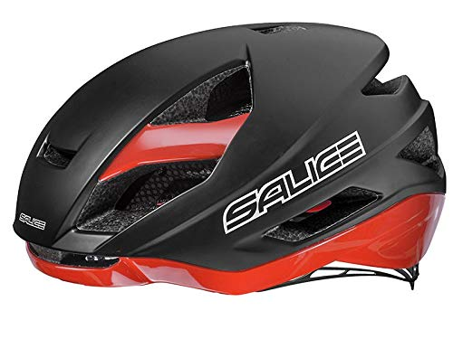 Salice Casco Bike TG. 52-58 Nero-Rosso, Unisex Adulto
