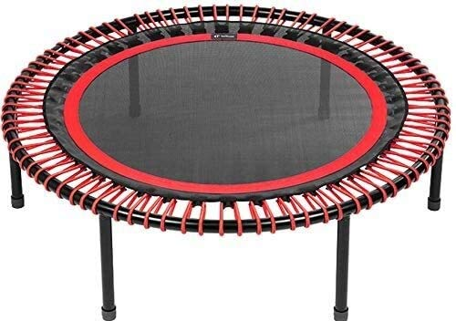 YAOJIA Indoor trampoline Fitness Trampolines Classic Rebounder, Screw-in Legs, Red, 100 cm, Strong Bungees (90-120kg)
