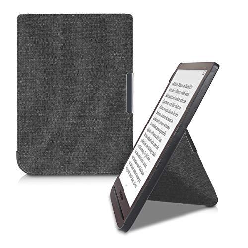 kwmobile Hülle kompatibel mit Pocketbook InkPad 3/3 Pro - Stoff eReader Schutzhülle Cover Case - Grau