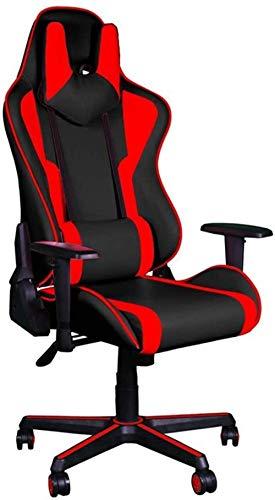 Home Bürostuhl Internet Cafe Spiel Ankersitz High Back Computerstuhl Gaming Stuhl Gaming Stuhl Computerstuhl Home Office Computer Stuhl, Rot MISU (Color : Red)