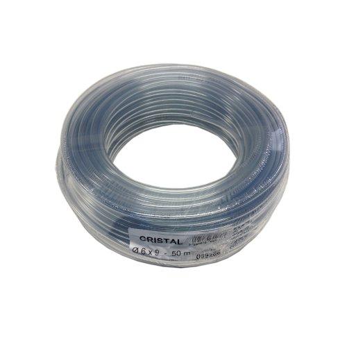 Tricoflex Wasserschlauch Cristal Weich PVC Schlauch, 6 mm innen, 50 m Rolle, Transparent