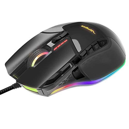 Patriot Memory Viper V570 Ratón Gaming Retroiluminación RGB con Cable USB y sensor Avago Laser 12000 DPI BLACKOUT EDITION - PV570LUXWAK