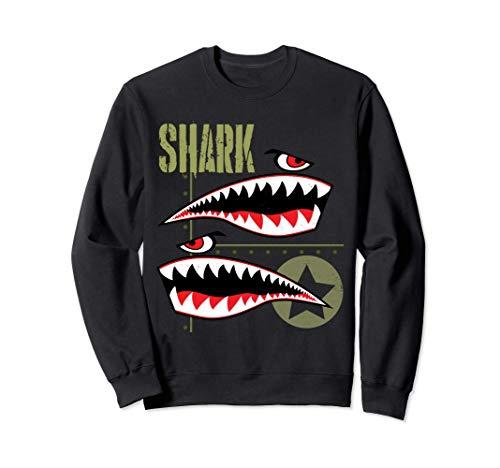 Wild Aviation Pilot Shark Plane T-Shirts & Cool Designs Sudadera