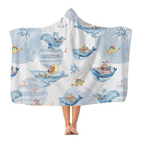 Klassische Decke mit Kapuze für Erwachsene und Jugendliche, aus Polyester-Fleece, zum Valentinstag, Muttertag, Geburtstag, Geschenkidee, tragbar, für Kinder, Erwachsene, Jugendliche